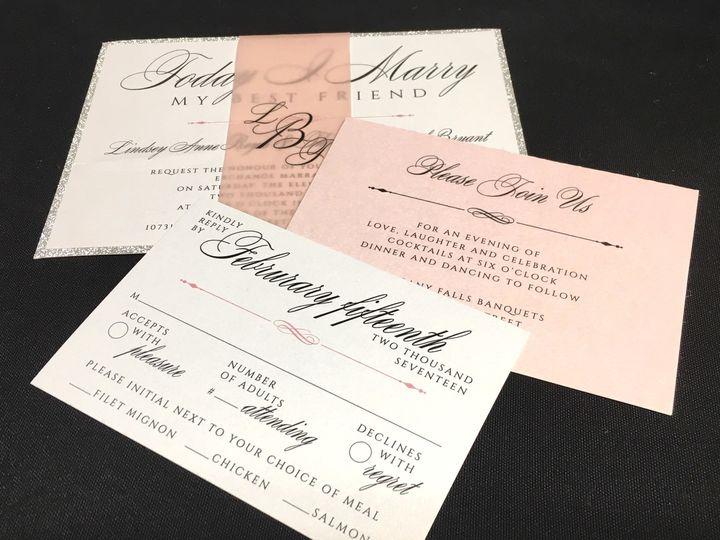 Tmx 1503606073114 Simple Invite Oak Forest, IL wedding invitation