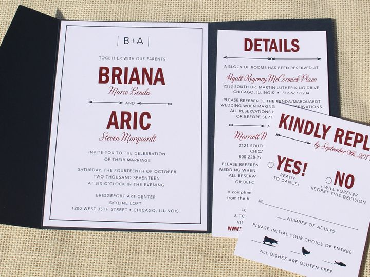 Tmx 1507915756514 Briana Benda Oak Forest, IL wedding invitation