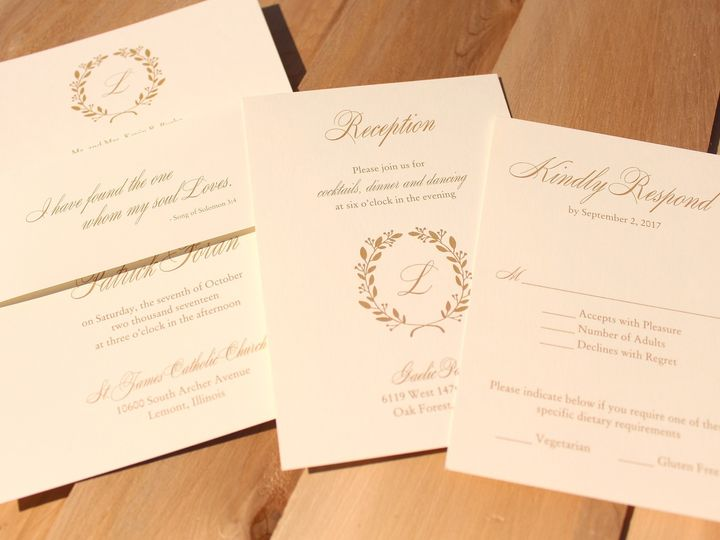 Tmx 1507915779329 Burke2 Oak Forest, IL wedding invitation