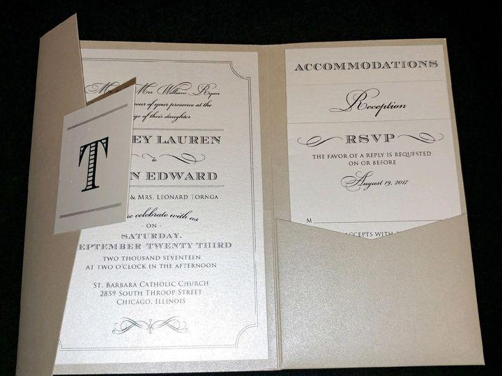 Tmx 1507915815491 Elegant Pocket Oak Forest, IL wedding invitation