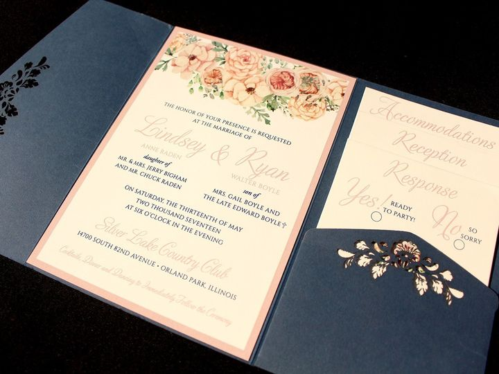 Tmx 1507915848613 Lindsey Raden Oak Forest, IL wedding invitation
