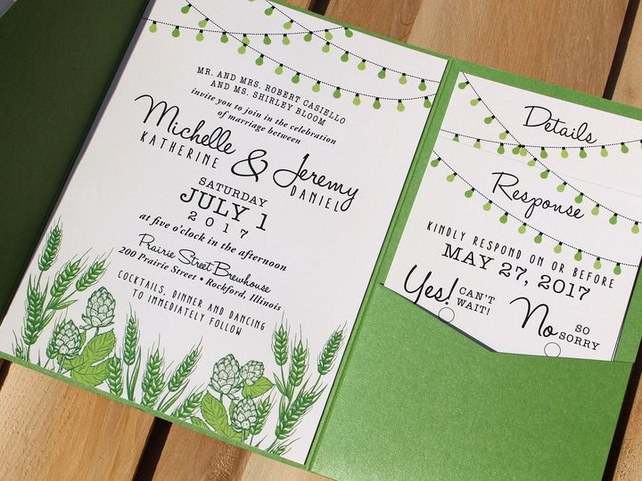 Tmx 1507915898429 Michelle Casiello Oak Forest, IL wedding invitation