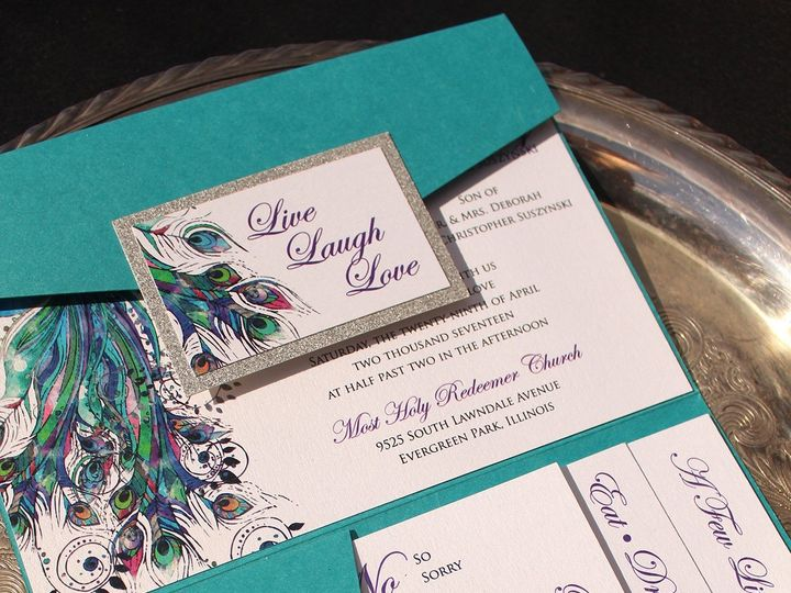 Tmx 1507915917464 Peacock Oak Forest, IL wedding invitation
