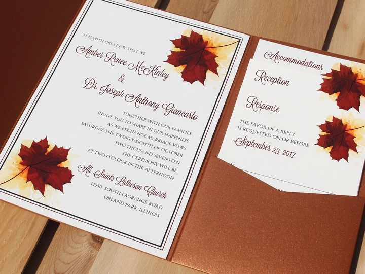 Tmx 1507916331018 Amber Mckinley Oak Forest, IL wedding invitation