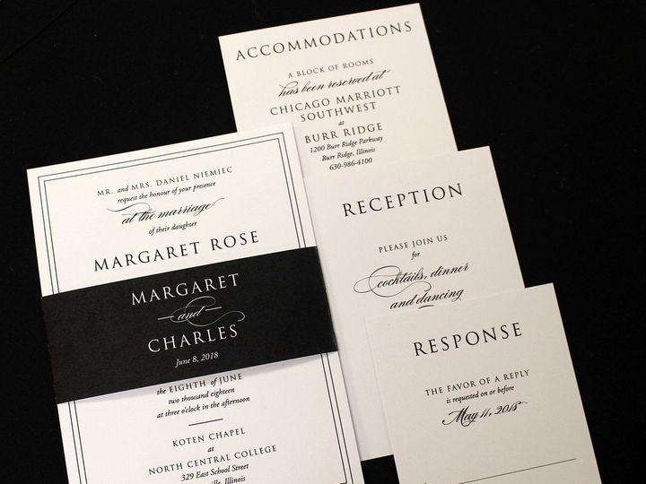 Tmx 1523993618 908f4c57228112c9 1523993616 F7b5d7a06d3e297a 1523993616220 1 Black And White Be Oak Forest, IL wedding invitation