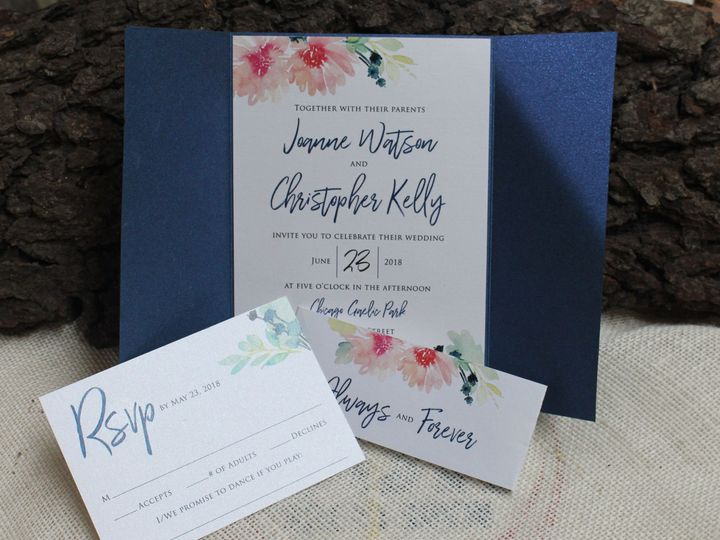 Tmx 1529686207 091aaea0ff9d779c 1529686203 E54db77ac9748355 1529686194388 1 IMG 6797 Oak Forest, IL wedding invitation