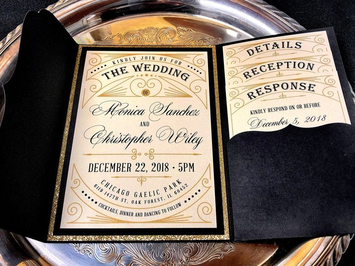 Tmx Artdecoblackgoldpocket 51 129420 1565632816 Oak Forest, IL wedding invitation
