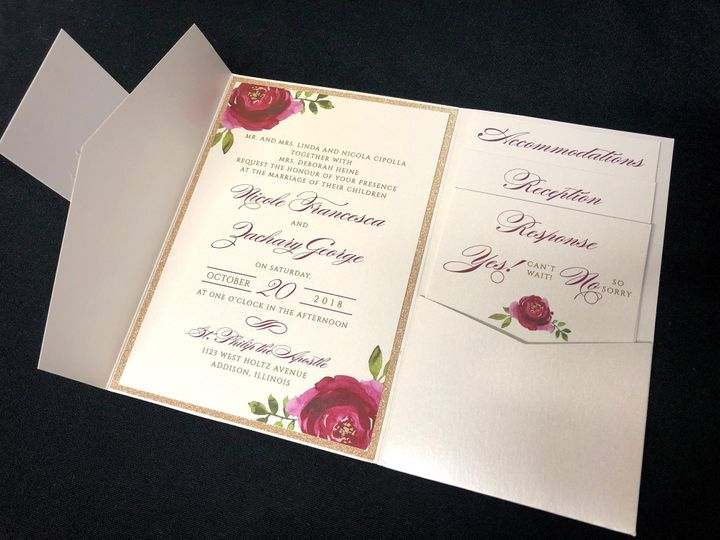 Tmx Beautiful Floral 51 129420 1565633916 Oak Forest, IL wedding invitation