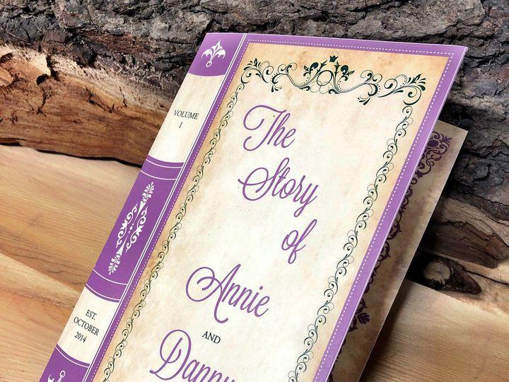 Tmx Bookinvitationpurple 51 129420 1565632815 Oak Forest, IL wedding invitation