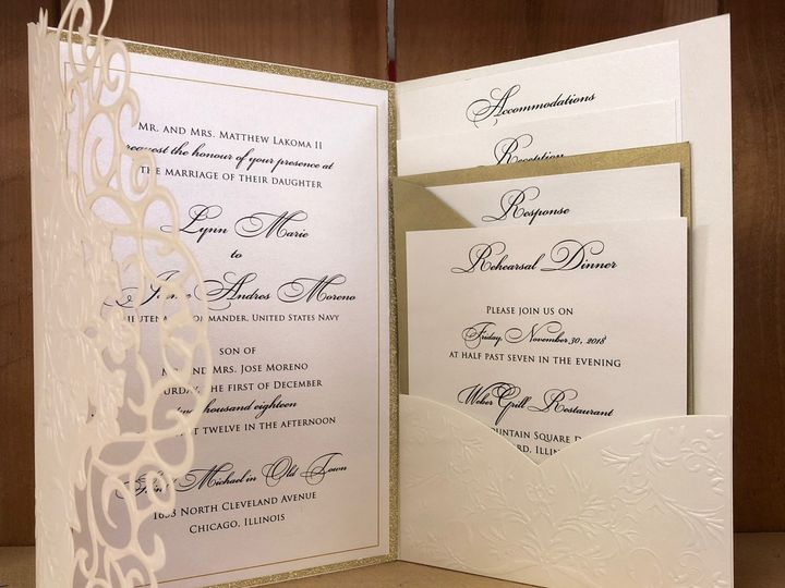 Tmx Elegant Laser 51 129420 1565633931 Oak Forest, IL wedding invitation