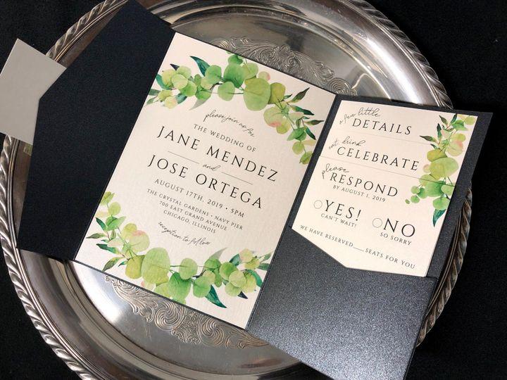 Tmx Eucalyptusinvitationpocket 51 129420 1565731934 Oak Forest, IL wedding invitation