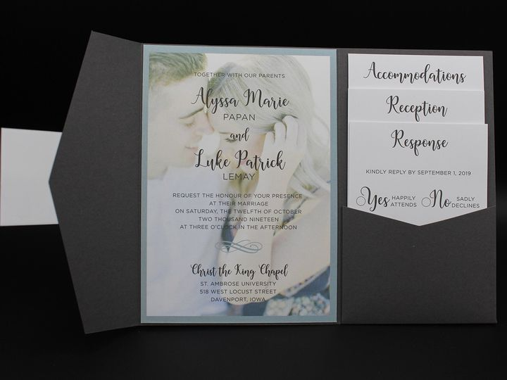 Tmx Picturestyle 51 129420 1565632814 Oak Forest, IL wedding invitation