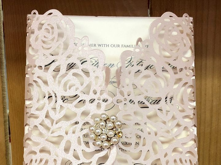 Tmx Rose Laser 51 129420 1566422738 Oak Forest, IL wedding invitation