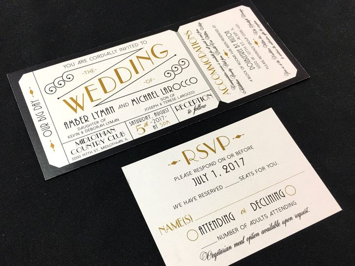Tmx Ticketweddinginvitation 51 129420 1565633976 Oak Forest, IL wedding invitation