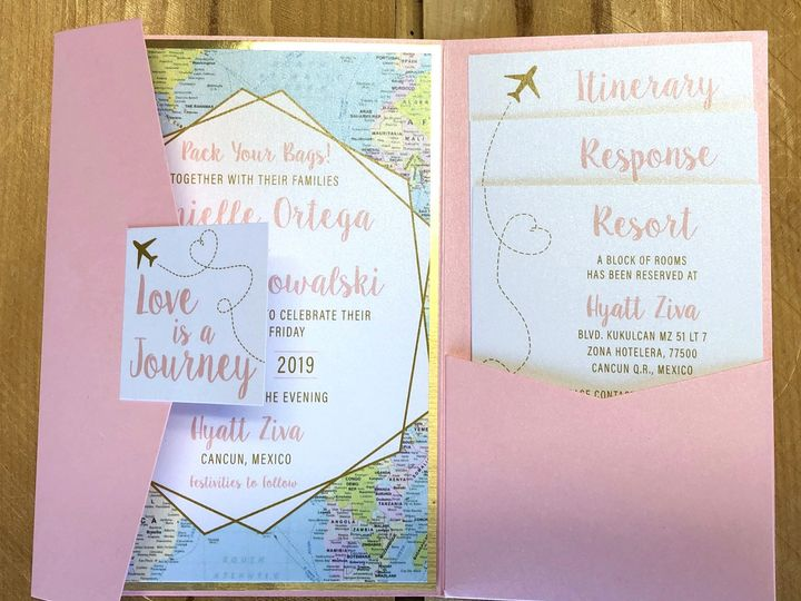 Tmx Travelpinkpocket 51 129420 1565633976 Oak Forest, IL wedding invitation