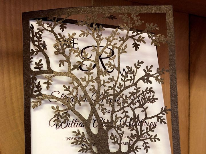 Tmx Tree Laser Cut 51 129420 1565634009 Oak Forest, IL wedding invitation