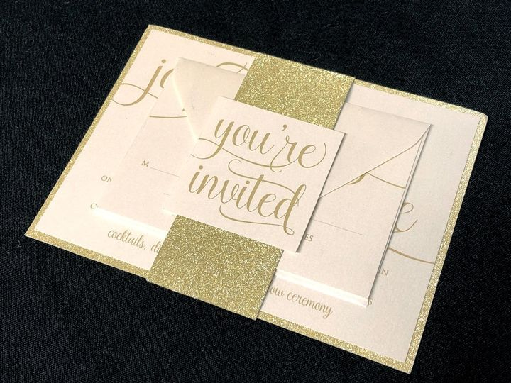 Tmx Yourinvitedgoldglitter 51 129420 1565632828 Oak Forest, IL wedding invitation