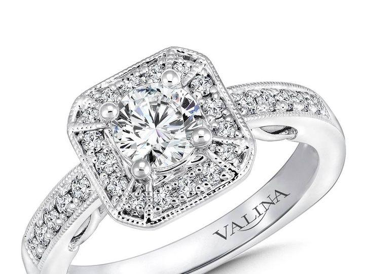 Tmx 1479762395194 Art Deco Geometric Halo Engagement Ring Burlington, MA wedding jewelry