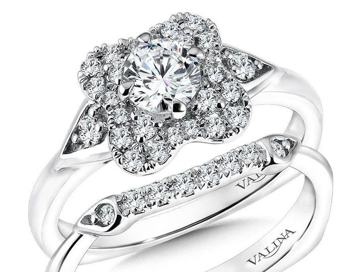 Tmx 1479762414573 Diamond Floral Inspired Halo Burlington, MA wedding jewelry