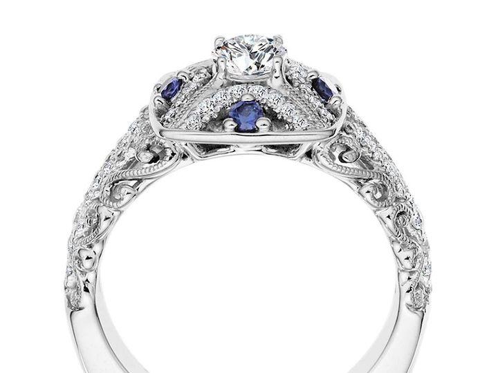 Tmx 1479762450342 Elegant Vintage Inspired Design With Blue Sapphire Burlington, MA wedding jewelry
