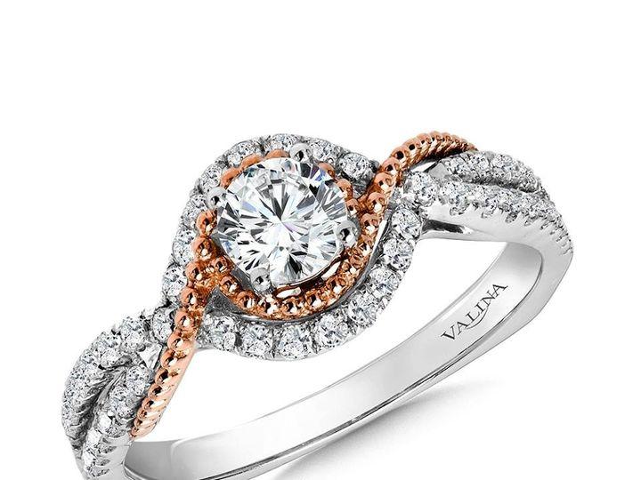 Tmx 1479762520282 Rose And White Gold Engagement Ring Burlington, MA wedding jewelry