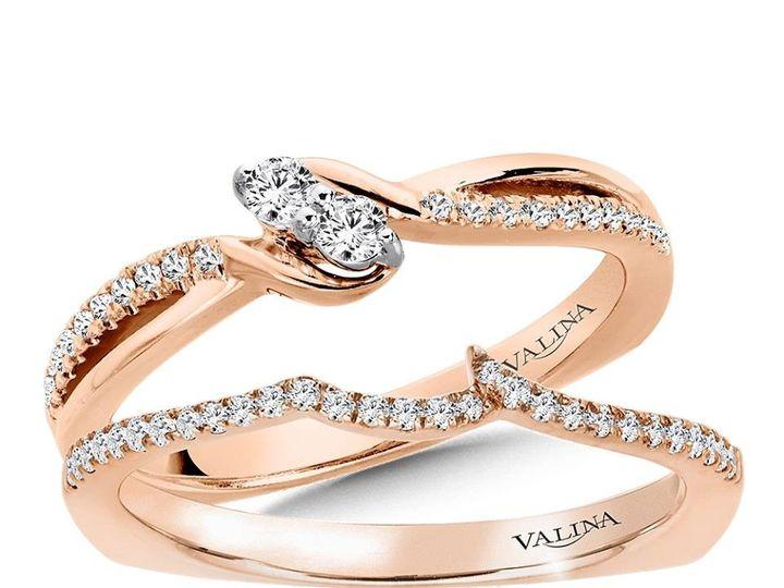 Tmx 1479762527126 Rose Gold Engagement Ring And Wedding Band Burlington, MA wedding jewelry