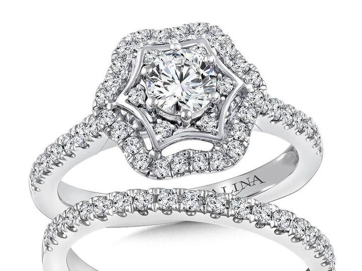Tmx 1479762583118 Wedding Band With Engagement Ring Burlington, MA wedding jewelry