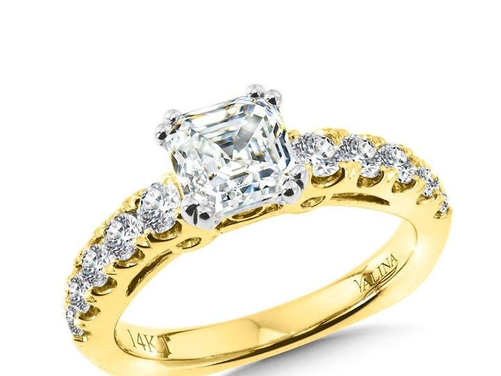 Tmx 1479762588831 Yellow Gold Engagement Ring With Asscher Cut Diamo Burlington, MA wedding jewelry
