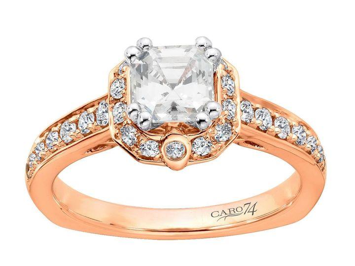 Tmx 1479762697895 Asscher Cut Halo Engagement Ring Burlington, MA wedding jewelry