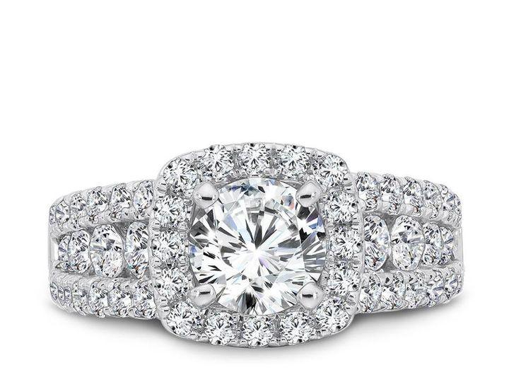 Tmx 1479762743944 Cushion Halo And A Triple Row Of Diamonds Burlington, MA wedding jewelry
