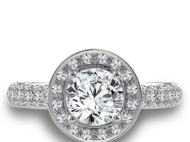 Tmx 1479762831358 Modern Diamond Halo Engagement Ring Burlington, MA wedding jewelry
