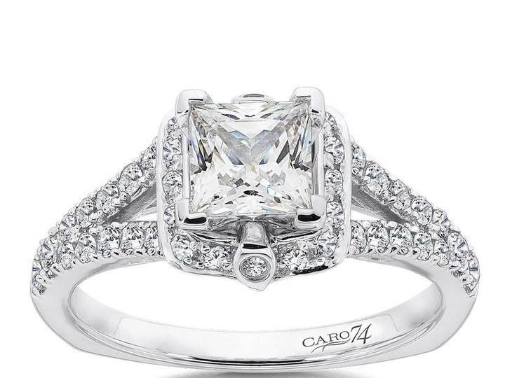 Tmx 1479762871603 Princess Cut Halo Engagement Ring Burlington, MA wedding jewelry