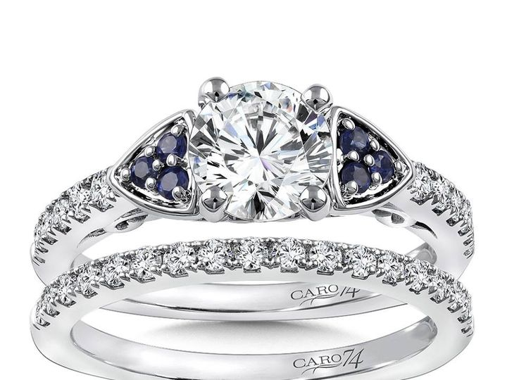 Tmx 1479762890060 Sapphire Engagement Ring With Matching Band Burlington, MA wedding jewelry