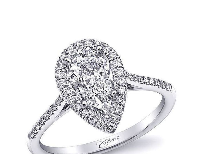 Tmx 1479763142658 Beautiful Custom Engagement Ring Featuring A Pear  Burlington, MA wedding jewelry