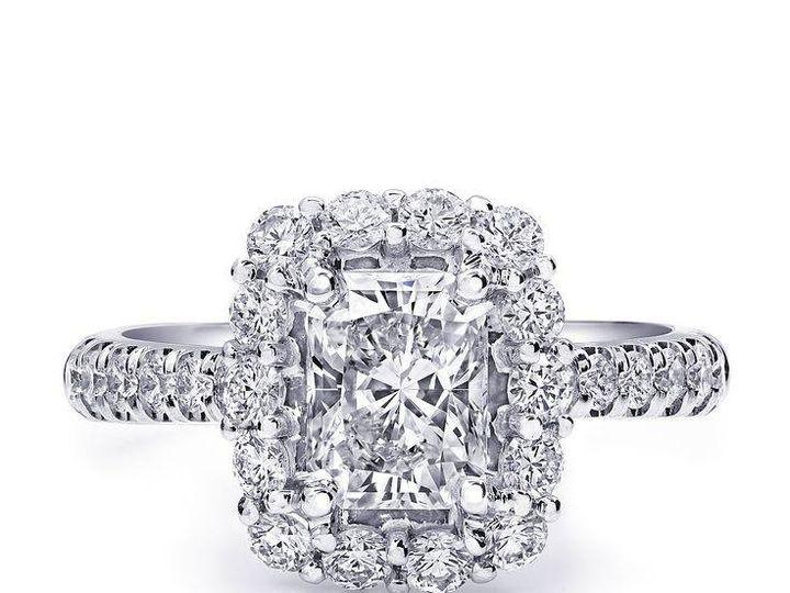 Tmx 1479763148654 Custom Engagement Ring Featuring A Radiant Cut Dia Burlington, MA wedding jewelry