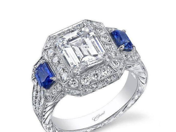 Tmx 1479763161758 Custom Ring Featuring An Emerald Cut Diamond And T Burlington, MA wedding jewelry