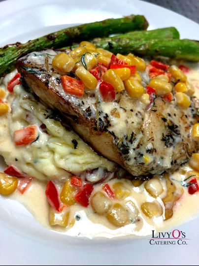 Seared Grouper with Corn