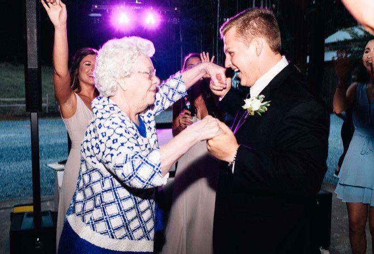 Grandmother and Groom Fun