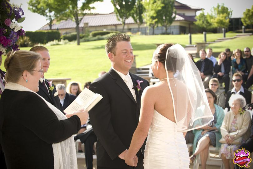 Fun wedding ceremony. Photo taken by True Love Photo