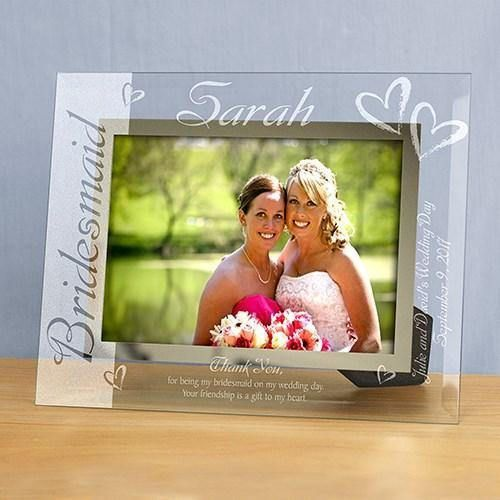 Personalized bridesmaid frame.