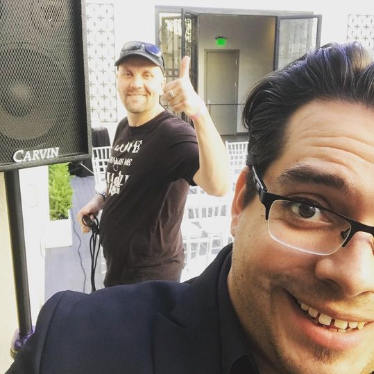 Behind-the-scenes with Dan from NDK Pro DJ! I love teaming up with this guy!