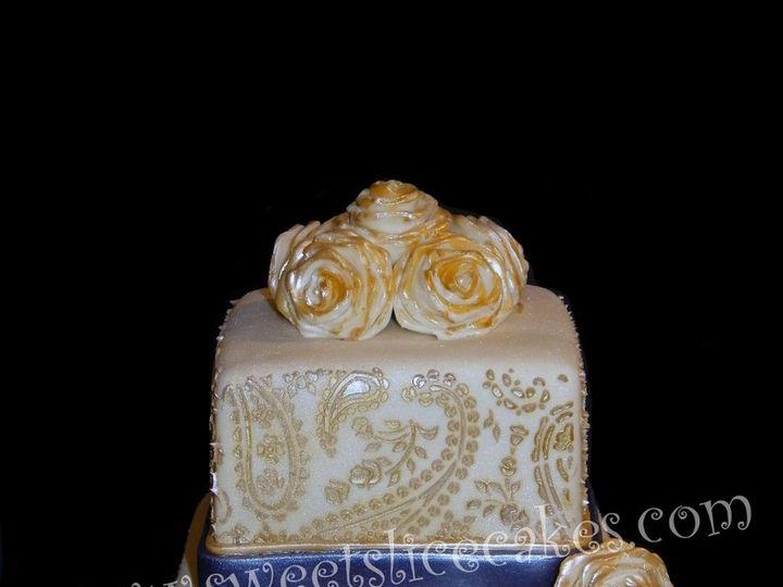 Tmx 1346893259135 HennaCake018B Collegeville, PA wedding cake