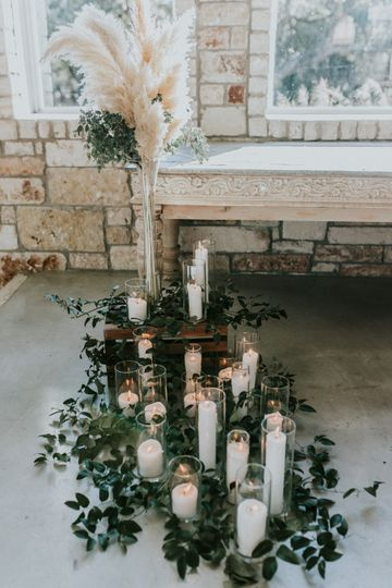 Foliage and candles