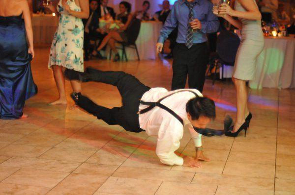 Break dancing at Pinnacle Golf Club