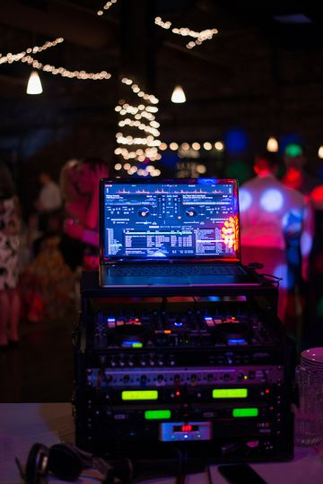 A candid shot of our equipment at the Venue at Dock580
