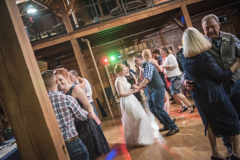 At a barn venue