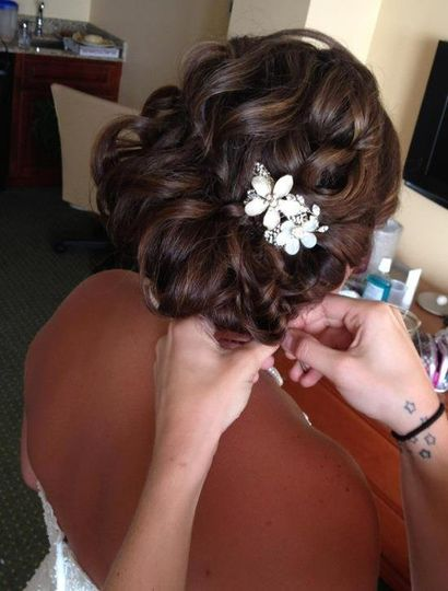 Small floral hair accessory