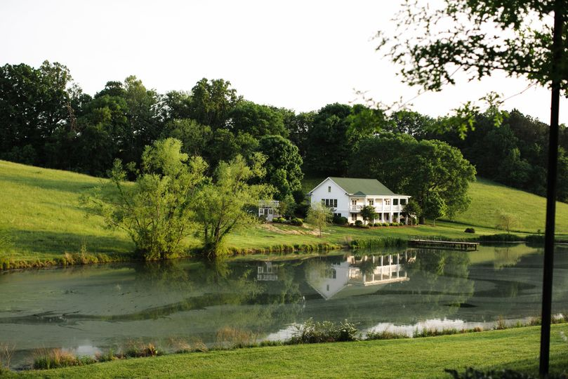 Pond view of the house