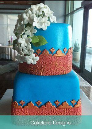 indian wedding cake aqua web