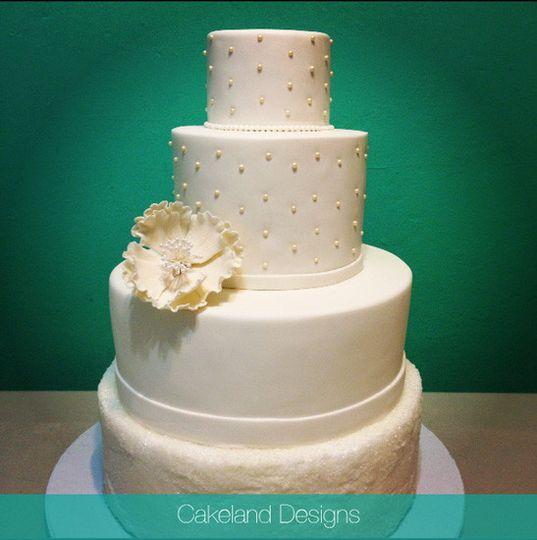 fantasy flower wedding cake 4 tier